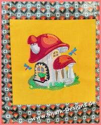Embroidery file fairy house...