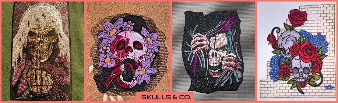 Grüße aus dem Jenseits an die Lebenden! Skulls für jeden Geschmack haben sich hier angesiedelt!